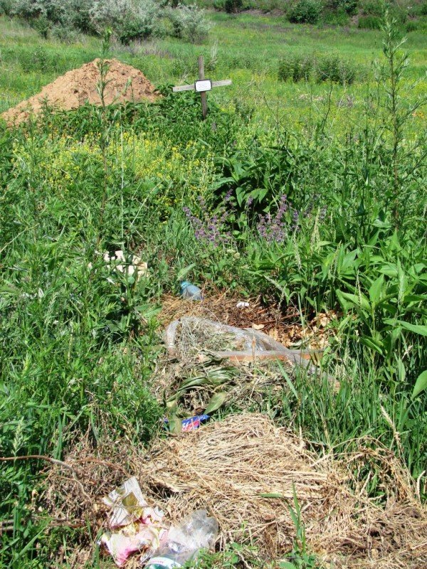 На одном из артемовских кладбищ появились кресты с надписью «Место для мусора. Помним, любим, скорбим», фото-4