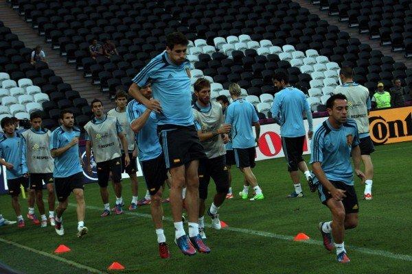 Сборная Испании провела открытую тренировку на «Донбасс Арене» (фото), фото-8