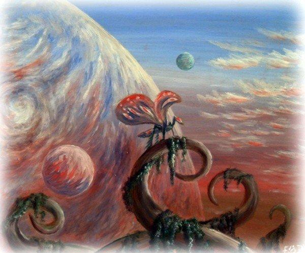 Горловский художник раскрыл в картинах космос, фото-3