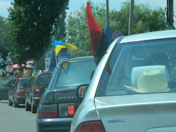 Одесские националисты водрузили флаг УПА над Белгород-Днестровской крепостью, фото-4