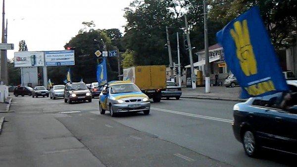 Одесские националисты водрузили флаг УПА над Белгород-Днестровской крепостью, фото-2