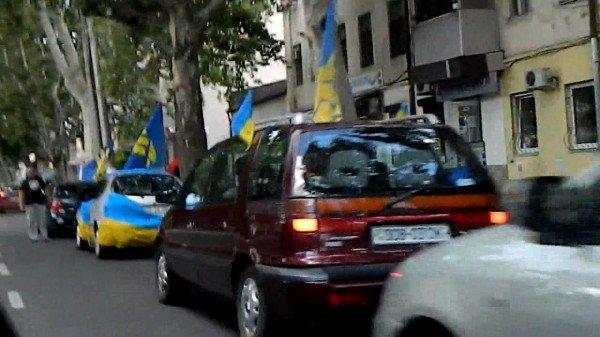 Одесские националисты водрузили флаг УПА над Белгород-Днестровской крепостью, фото-3