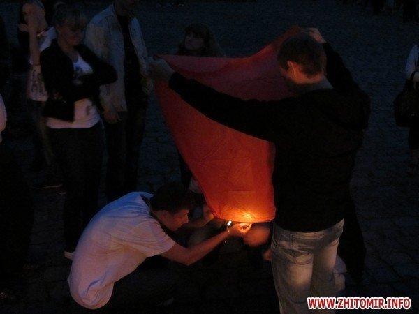 Житомиряне запустили в небо фонарики с пожеланиями(ФОТО), фото-5