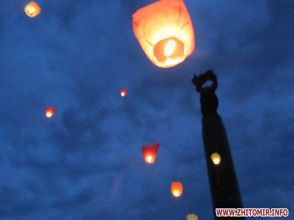 Житомиряне запустили в небо фонарики с пожеланиями(ФОТО), фото-7