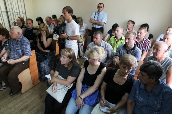 В Донецке начался суд над обвиняемыми в убийстве пятерых сотрудников Приватбанка (фото), фото-5