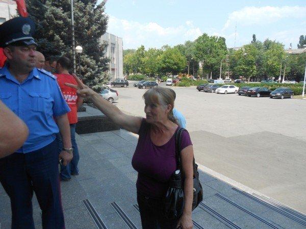 Активисты Партии регионов пытались сорвать вчерашнюю мирную акцию на крыльце Одесской облгосадминистрации (фото), фото-7