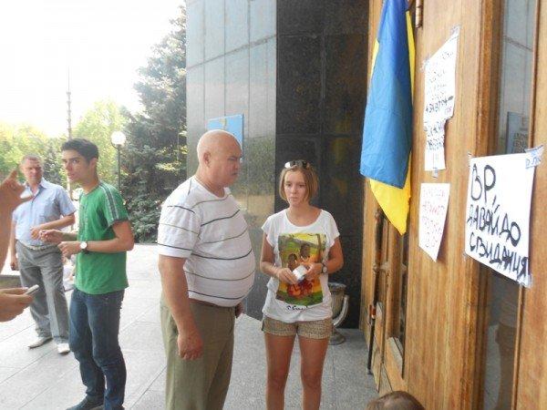 Активисты Партии регионов пытались сорвать вчерашнюю мирную акцию на крыльце Одесской облгосадминистрации (фото), фото-1