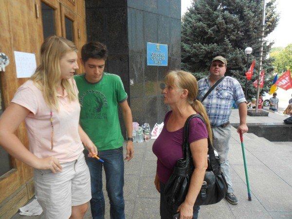 Активисты Партии регионов пытались сорвать вчерашнюю мирную акцию на крыльце Одесской облгосадминистрации (фото), фото-5
