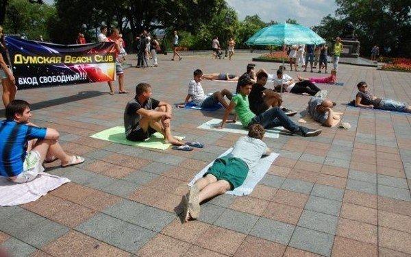 На площади перед одесской мэрией торжественно открыли бесплатный пляж (фото), фото-3