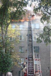 Под Донецком горел пятиэтажный дом (фото), фото-1