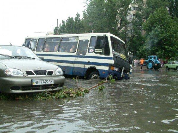 Одесская маршрутка на Балковской потеряла колесо (Фоторепортаж), фото-8
