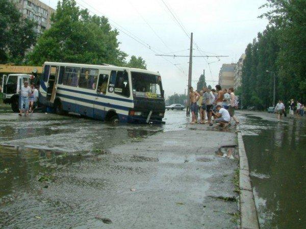 Одесская маршрутка на Балковской потеряла колесо (Фоторепортаж), фото-9