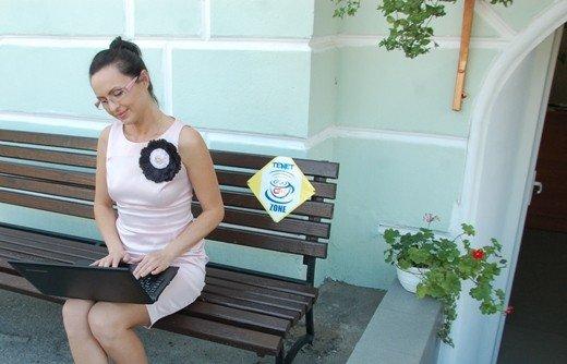 В центре Одессы появилась WI-FI-скамейка (Фотофакт), фото-1