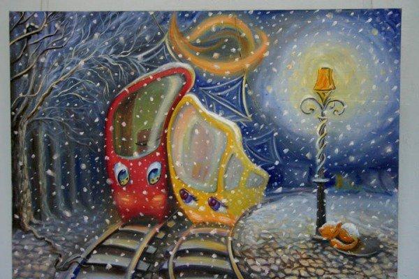 Запорожская художница представила свои картины, которые рисует кофе и...вином (ФОТО), фото-1