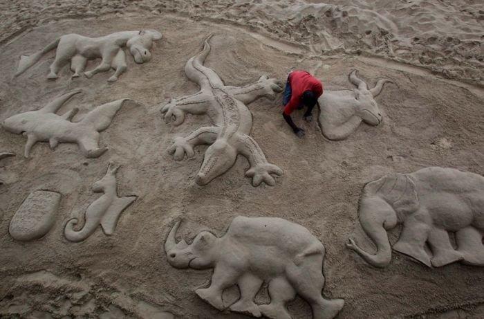 Мариупольцы посоревнуются в умении строить замки из песка (ФОТО), фото-1