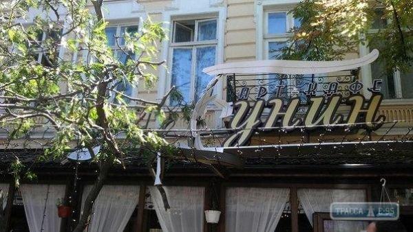В центре Одессы рухнувшая ветка проломила крышу кафе (Фото), фото-1