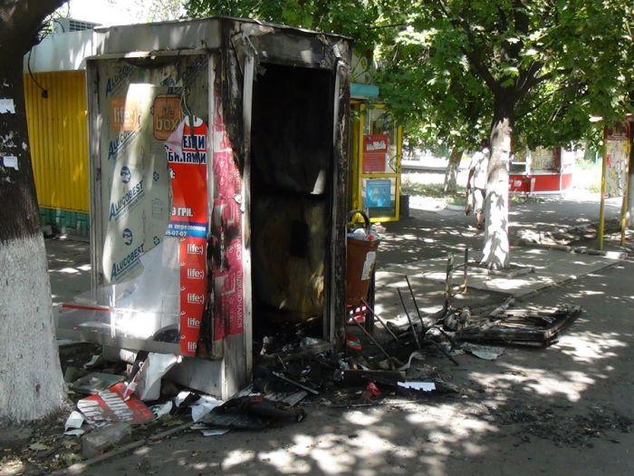 В Мариуполе сгорел торговый киоск (ФОТО) , фото-2