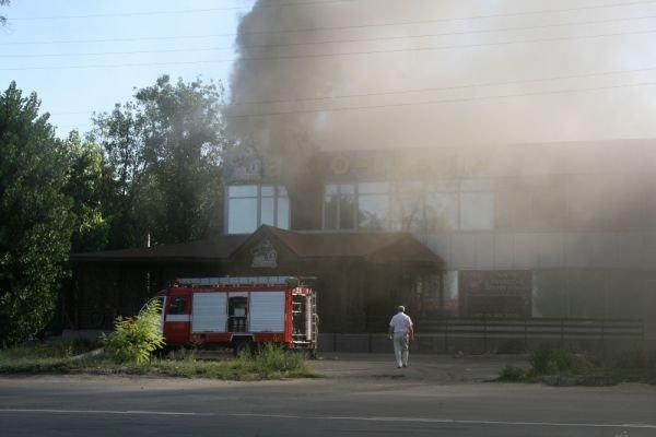 В Кривом Роге горит ресторан «Авто-гриль Мисливець» (ФОТО. Дополнено), фото-2