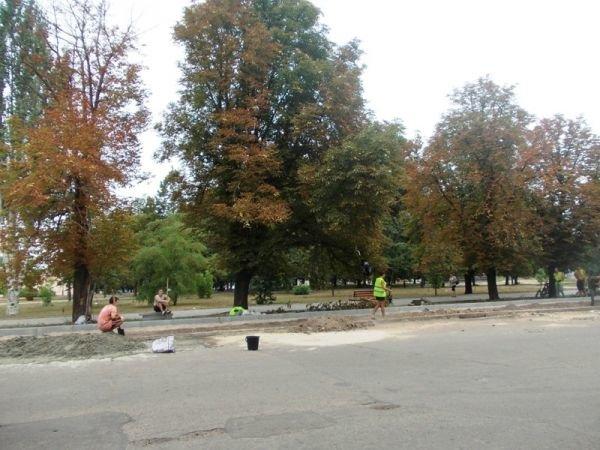 В центре Артемовска пилят каштаны. Продолжается реконструкция площади Свободы (ФОТО), фото-2