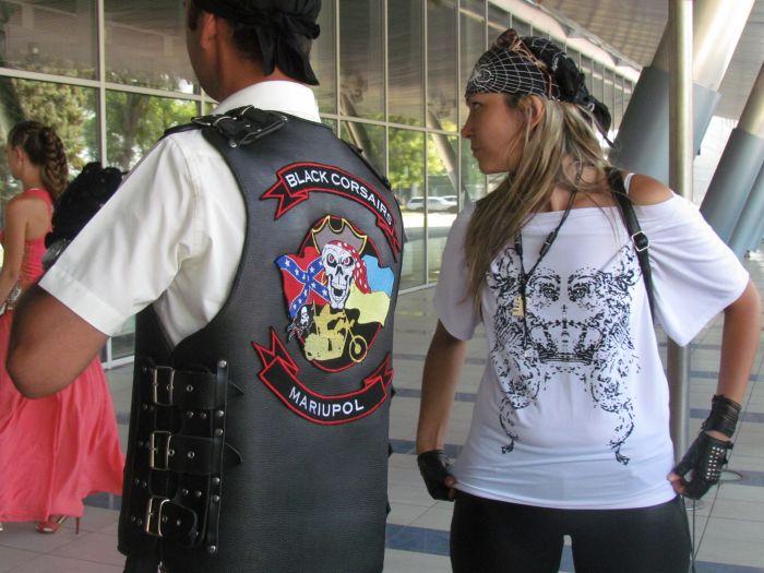 В Мариуполе сегодня отгуляли байкерскую свадьбу (ФОТО), фото-10