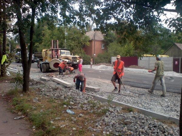 Въезд в Кривой Рог: на ул. Куприна дорожники работают даже ночью (ФОТО), фото-3