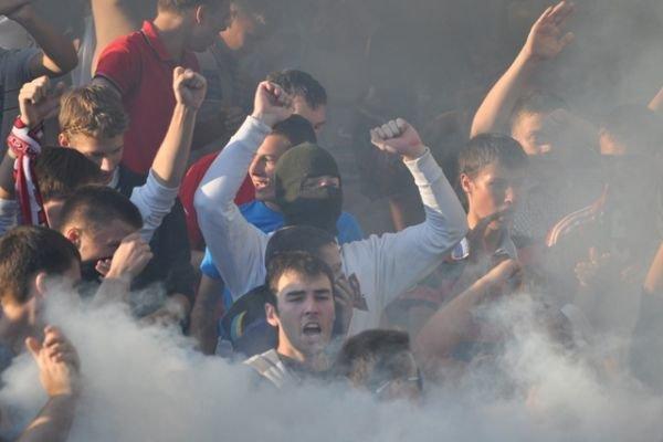 На матче «Кривбасс» - «Днепр» болельщики снова отличились (ФОТО), фото-9
