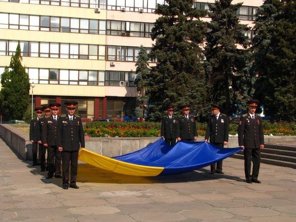 ФОТОРЕПОРТАЖ: В Запорожье торжественно подняли государственный флаг, фото-1