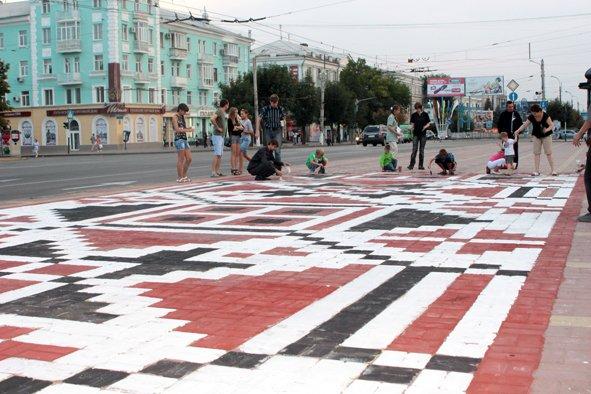 Луганск украсили вышиванкой, фото-2