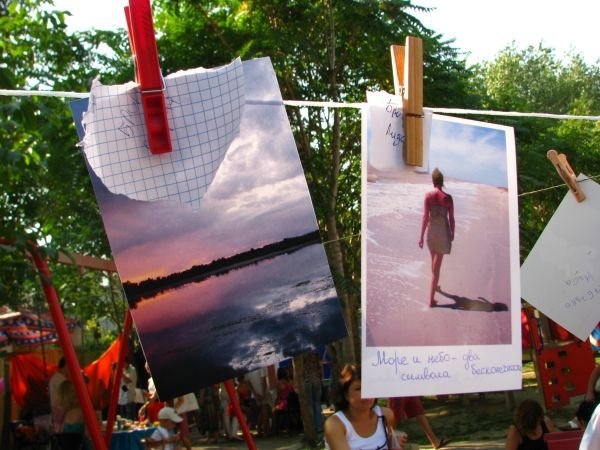 ФОТОРЕПОРТАЖ: Запорожцы вывесили на «Сушку» свои творения, фото-1