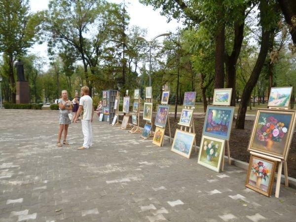 В Кривом Роге, в обновленном парке на ЮГОКе, прошла выставка картин Анатолия Лабунского (ФОТО), фото-4