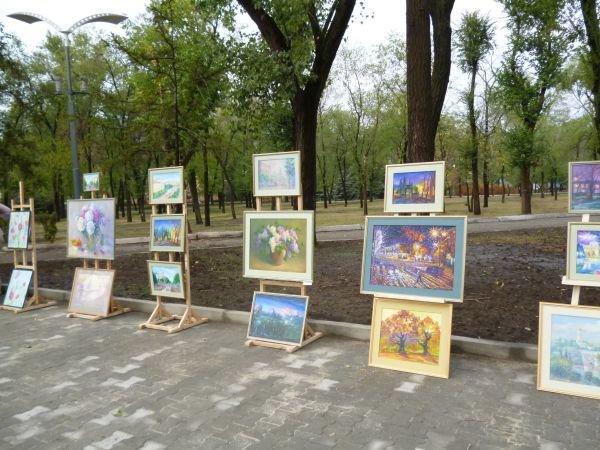 В Кривом Роге, в обновленном парке на ЮГОКе, прошла выставка картин Анатолия Лабунского (ФОТО), фото-2