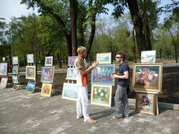 В Кривом Роге, в обновленном парке на ЮГОКе, прошла выставка картин Анатолия Лабунского (ФОТО), фото-7