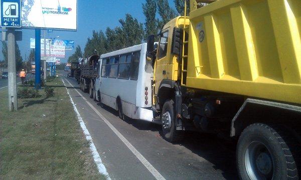 В аварии на выезде из Горловки пострадали трое пассажиров 76-го автобуса (ФОТО), фото-1