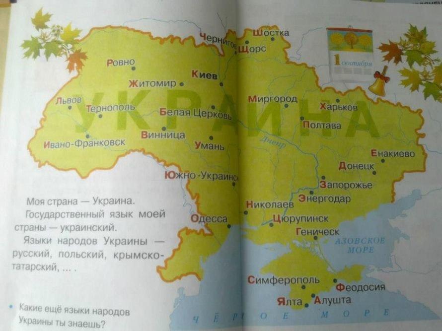 На 1 сентября луганским школьникам раздавали буквари с родиной Президента и тетради с логотипом Партии Регионов, фото-1