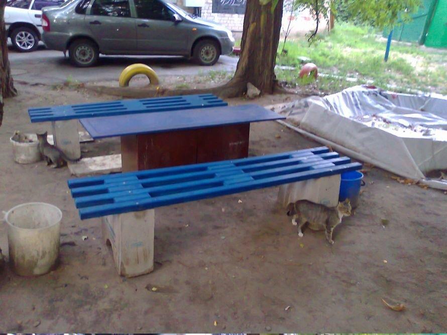лавочки кошки