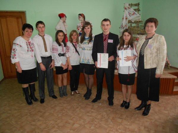 Представники Тернопільської області на Всеукраїнській олімпіаді з географії у Харкові , березень 2012 .(Брощак Назарій другий зліва)