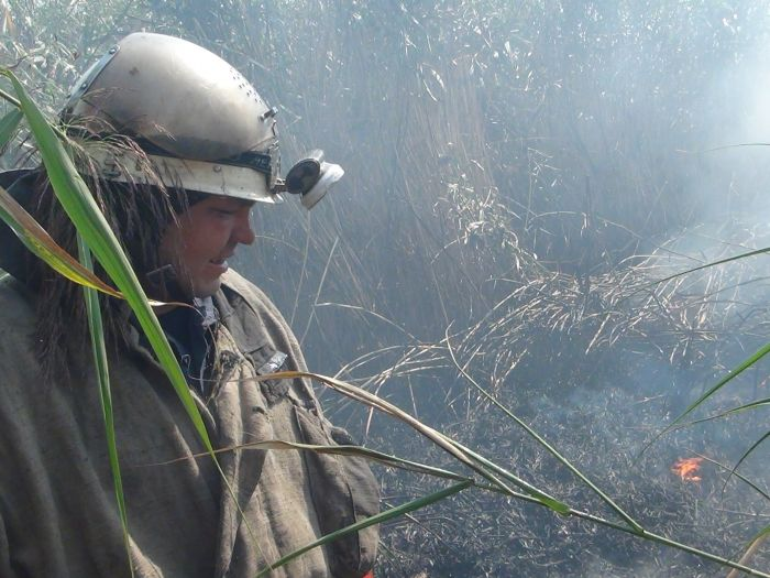 На Верхних Аджахах горит камыш (ФОТО), фото-4