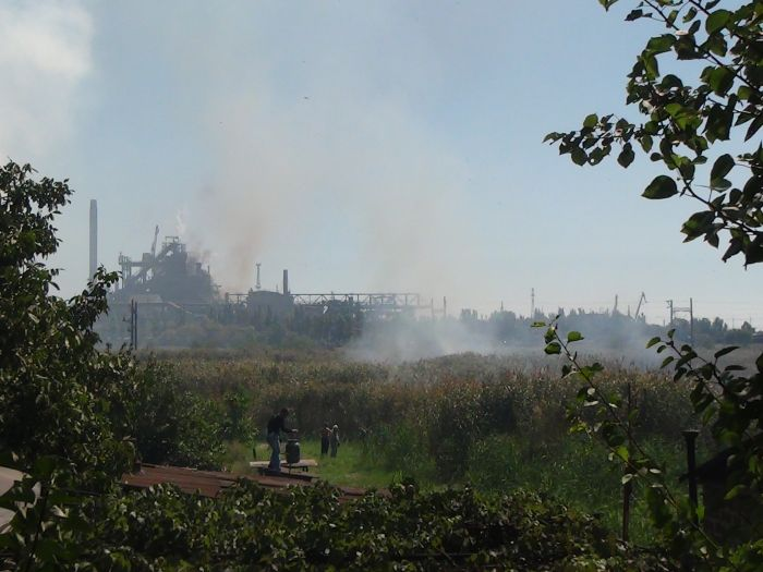 На Верхних Аджахах горит камыш (ФОТО), фото-8