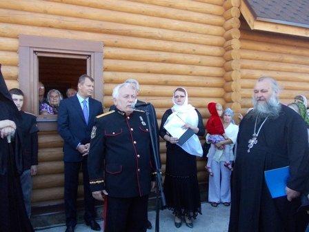 Деревянный храм Иоанна Златоуста в Артемовске встретил первых прихожан, фото-3