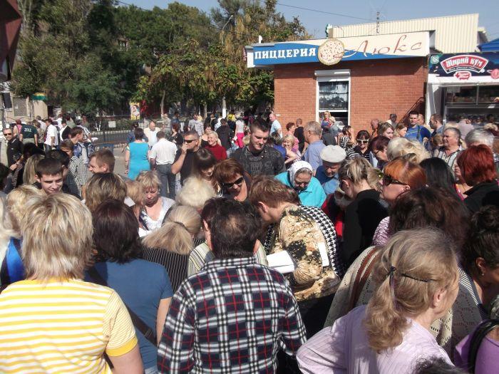 В Мариуполе митинговали против закрытия рынка «Солнечный» (ФОТО) (фото) - фото 13