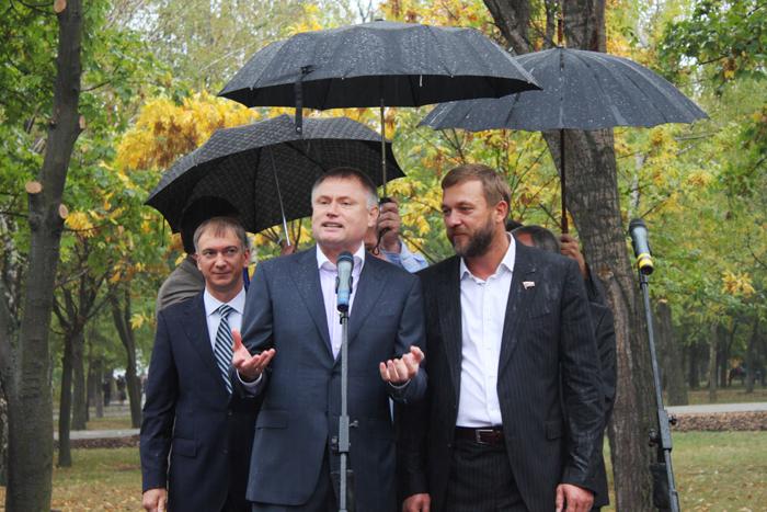 Реконструированный парк 50-летия Победы открывали уважаемые гости из России (ФОТО), фото-2