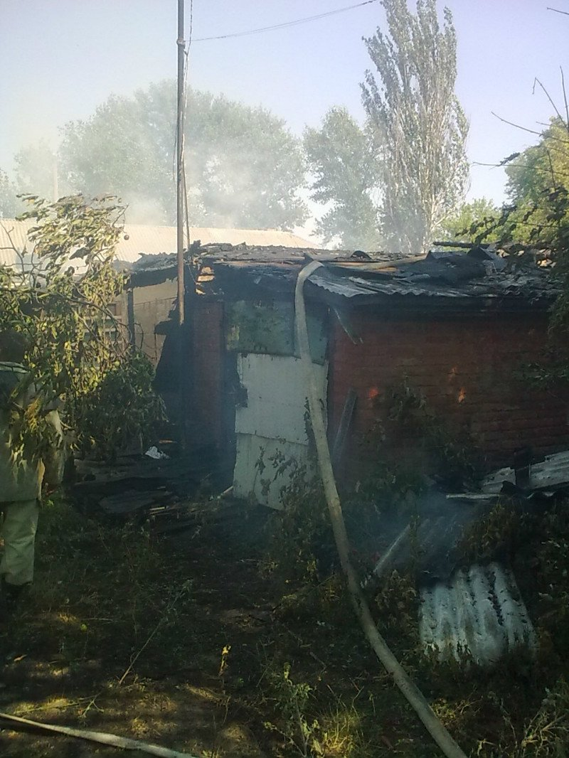 На Кировоградщине огонь едва не лишил летней кухни и гаража, фото-1