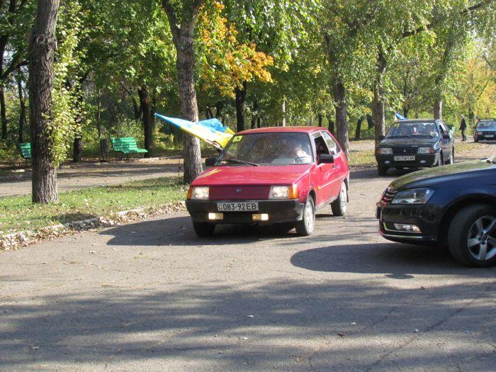 В Мариуполе губернаторский автопробег встретили батоном (ФОТО), фото-5