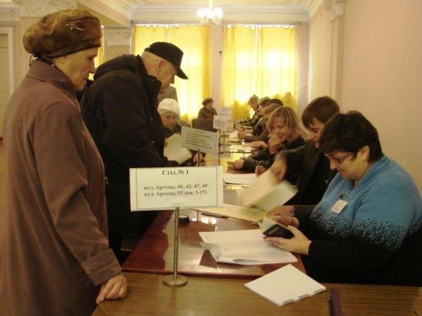 В Артемовске вовремя открылись все избирательные участки. Их штурмуют пенсионеры и студенты, фото-1