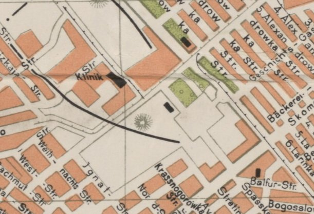 нестеровский террикон номер 6 на немецкой карте