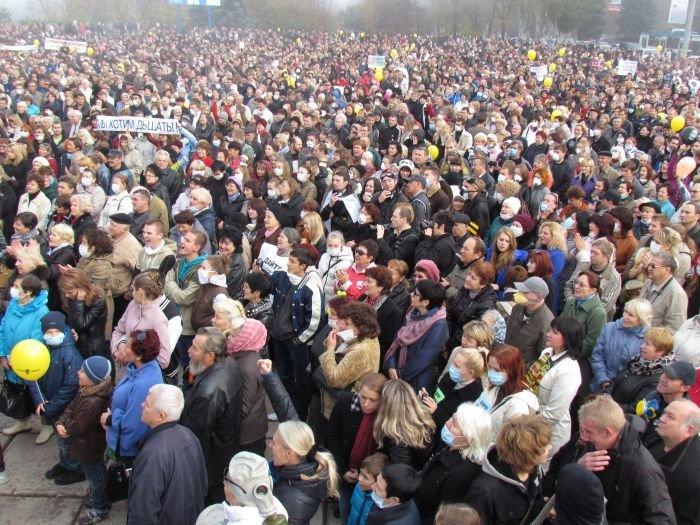 В  Мариуполе экологический митинг собрал тысячи человек (Дополнено+ФОТОРЕПОРТАЖ + ВИДЕО), фото-43