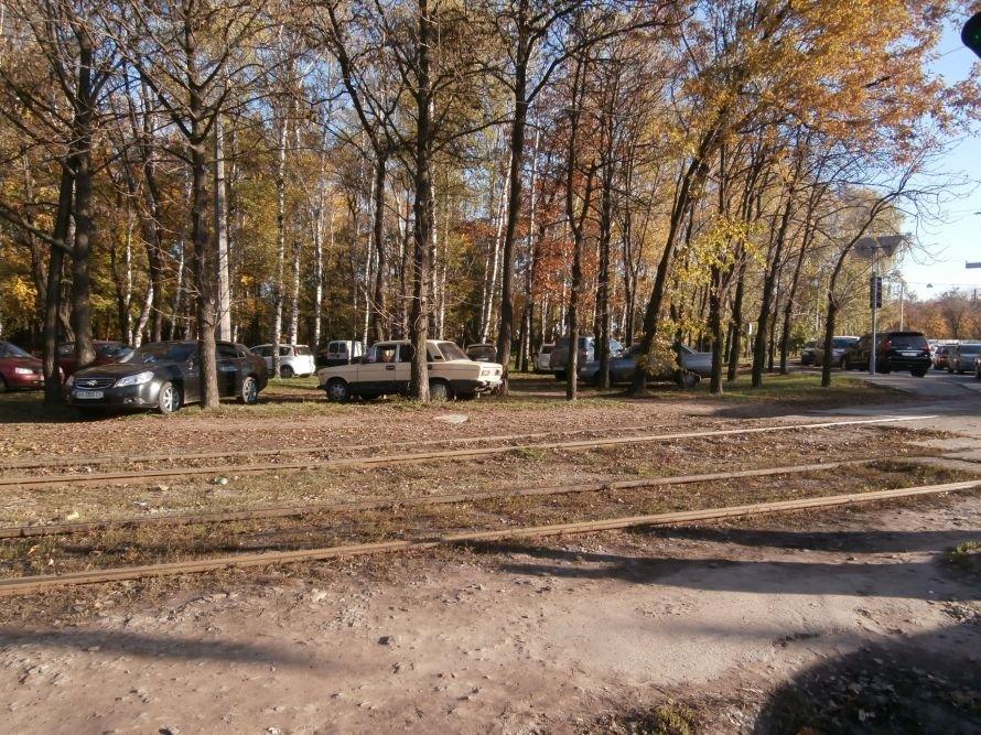 В Харькове придумали оригинальное решение проблемы с парковками (фото), фото-1