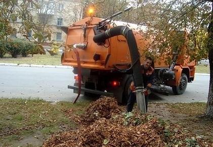 В Кременчуге уже утилизировали более 1 тысячи кубометров опавшей листвы, фото-1