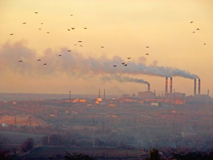 Фото дым фабрики или Ильича