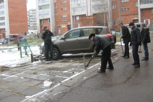 Несколько гостевых парковок Чебоксар лишились цепей и блокираторов (ФОТО), фото-1